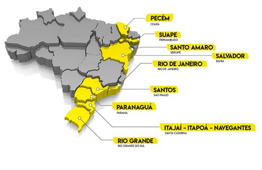 Portos Transporte de Cargas Marítimas em Santos - SP
